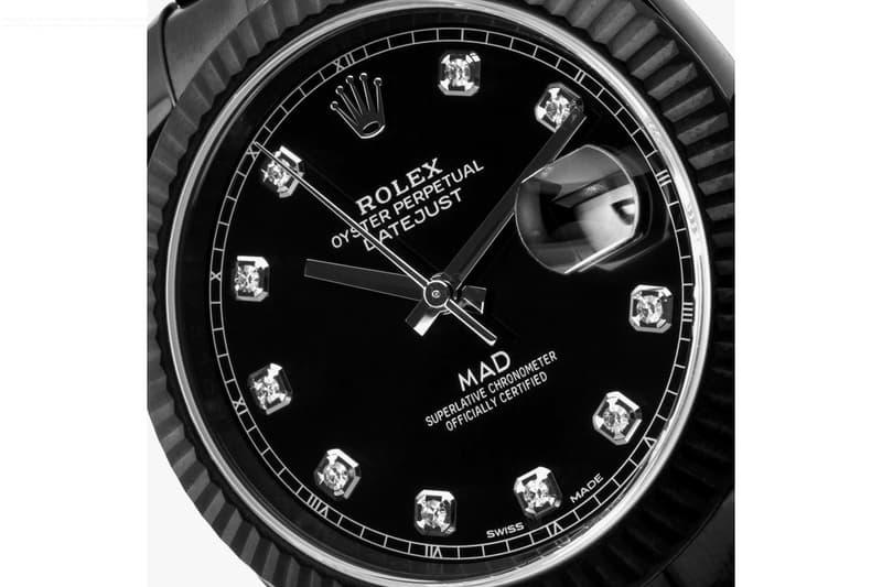 MAD Paris 打造 Rolex Datejust 黑化鑽石定製腕錶