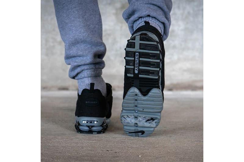 近賞 Stüssy x Nike Air Zoom Spiridon Caged 2 黑魂配色上腳圖輯