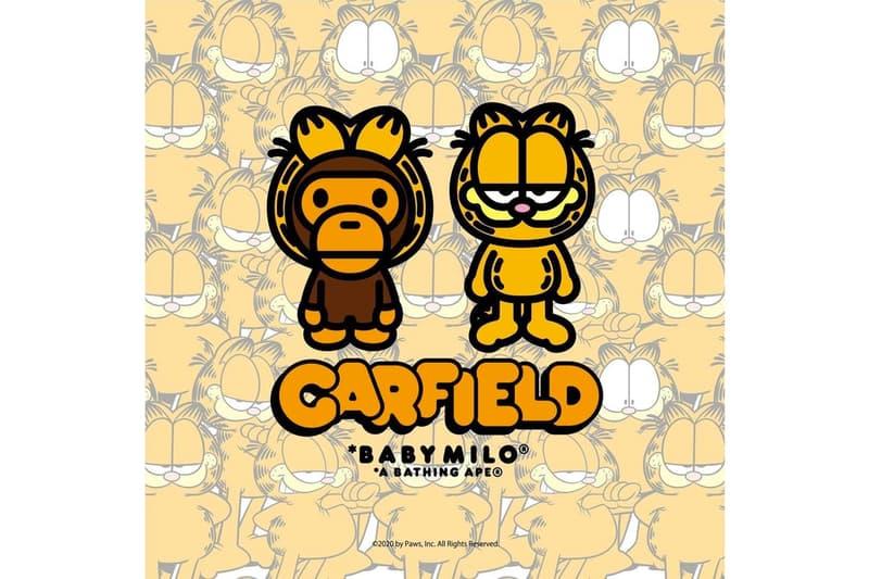 A BATHING APE® x《Garfield》推出首回聯乘服裝系列