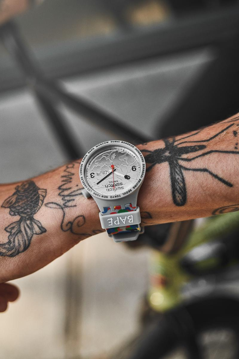 Swatch X A BATHING APE® 联乘系列第二弹正式发布