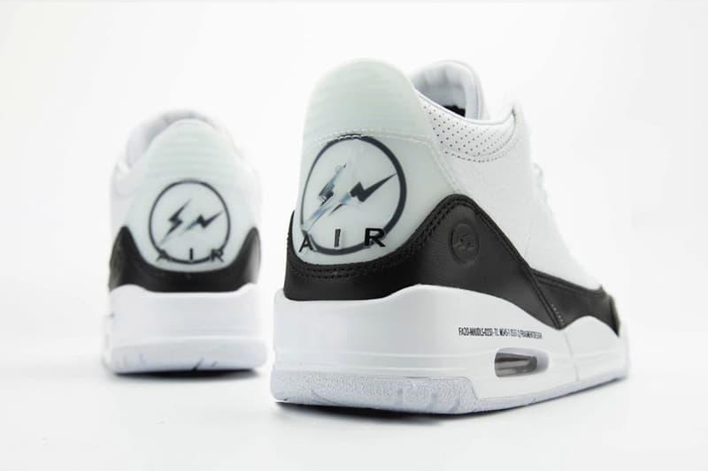 fragment design x Air Jordan 3 全新聯名鞋款高清圖輯曝光