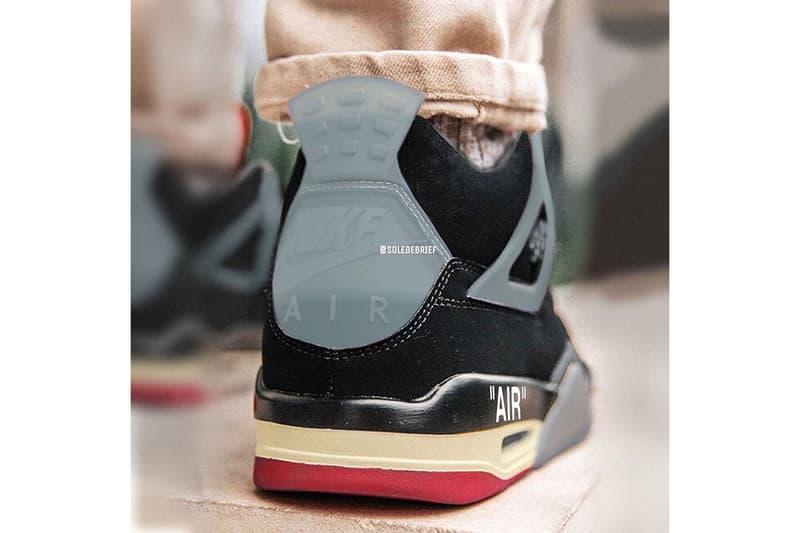 Off-White™ x Air Jordan 4 經典配色「Bred」全新發售情報曝光