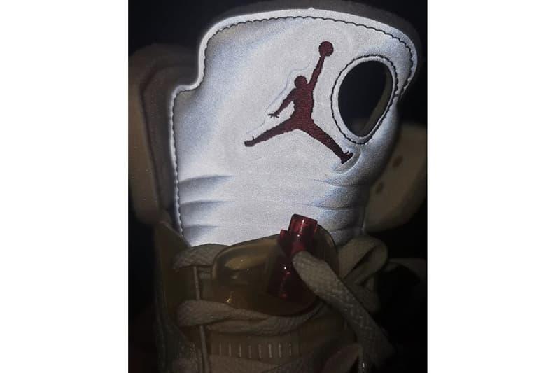 Off-White™ x Air Jordan 5 最新配色「Sail」全新近照圖輯曝光