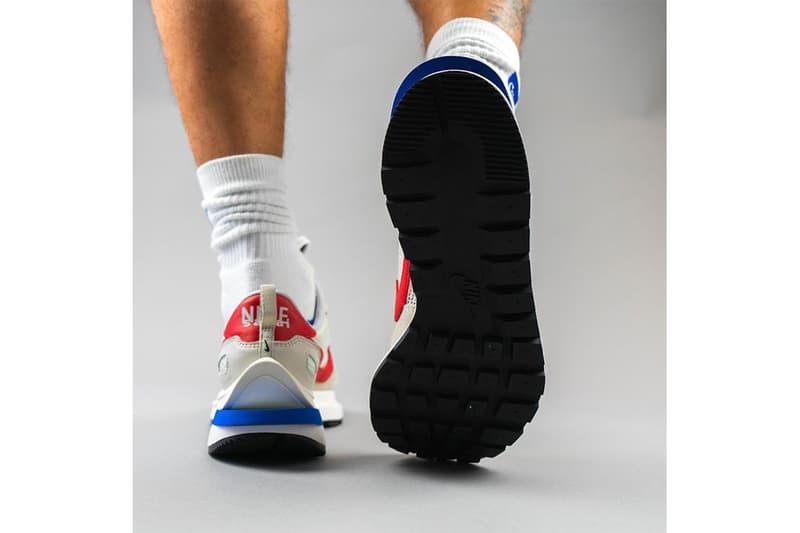 率先近賞 sacai x Nike Vaporwaffle 藍紅配色上腳圖輯