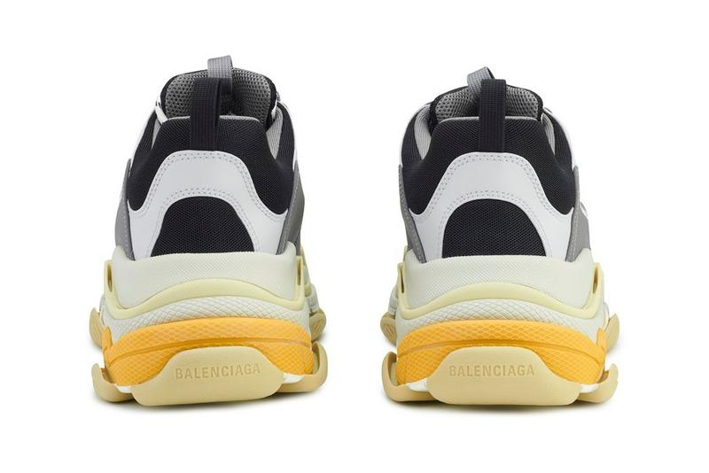 BalenciagaTriple S 釋出全新 Gray/Yellow 配色