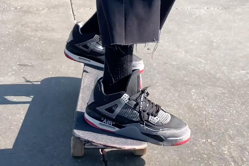 Erik Arteaga 板場實着未市售 Off-White™ x Air Jordan 4「Bred」