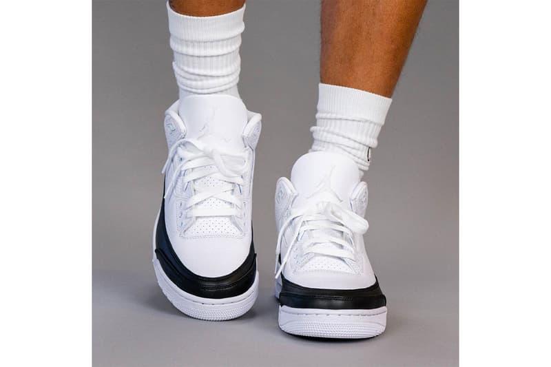 近賞 fragment design x Air Jordan 3 最新實着圖輯