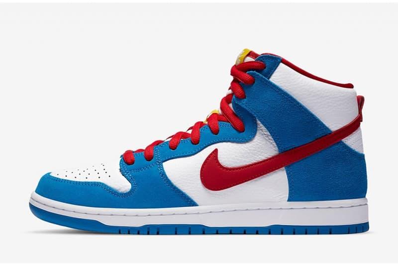 率先近賞 Nike SB Dunk High 全新「Doraemon」配色