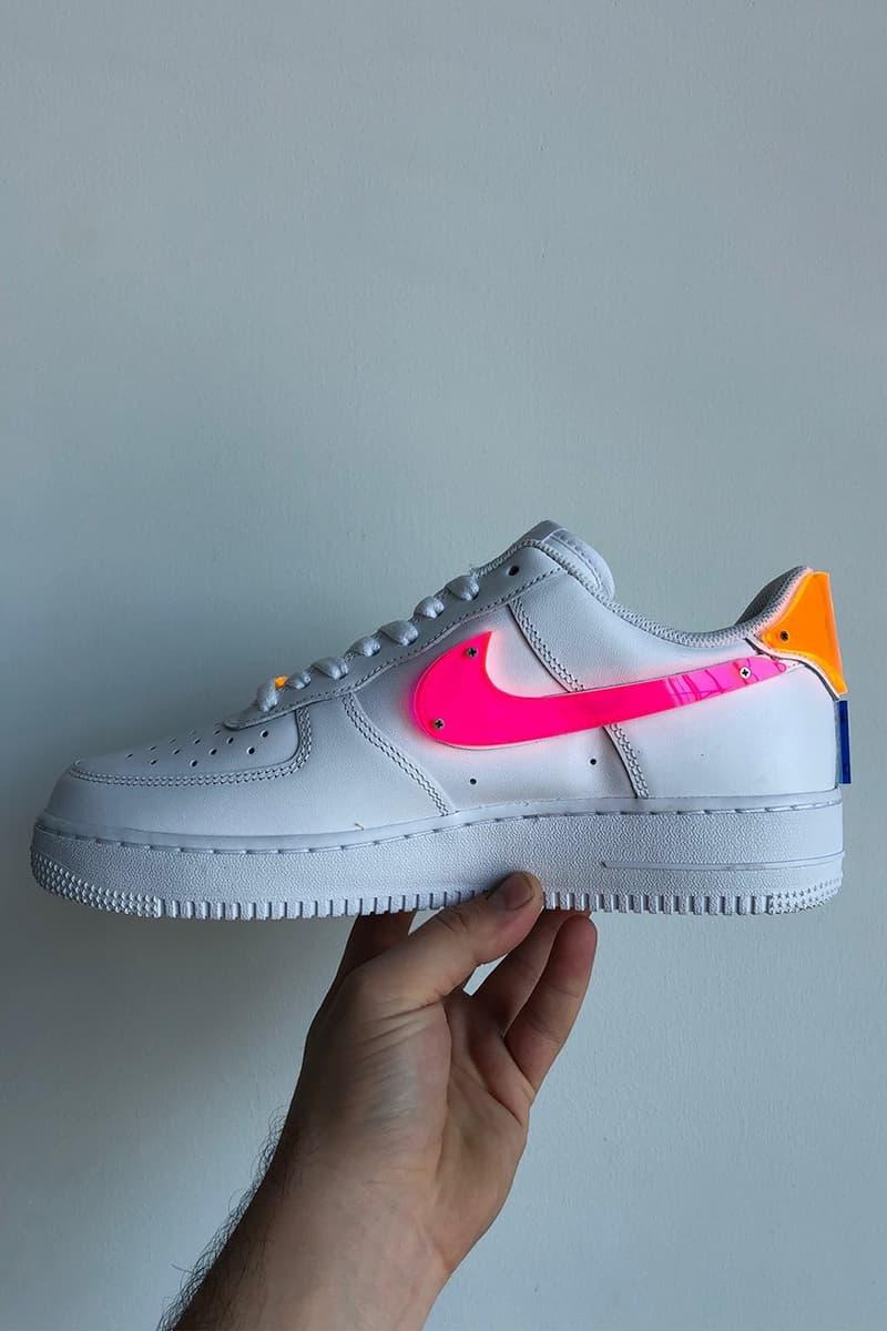 TBD in Process 推出霓虹壓克力材料定製 Nike Air Force 1