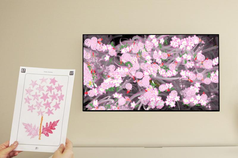 teamLab 推出全新居家互動式藝術作品《Flowers Bombing Home》