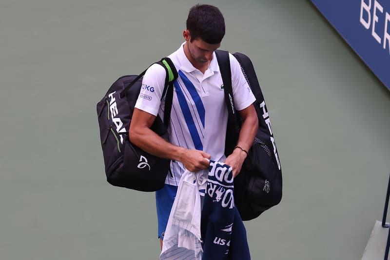 Novak Djokovic 因意外擊球打中線審而遭美網終止參賽資格
