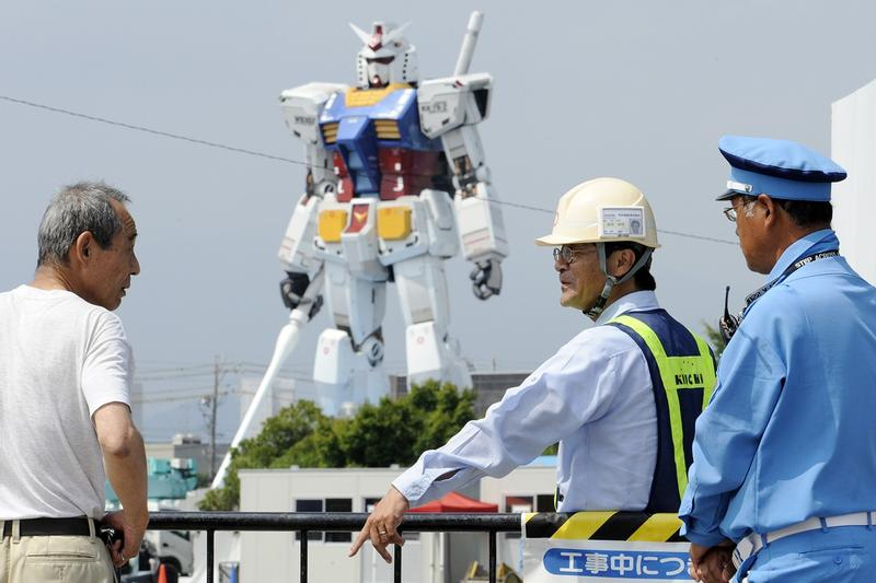 真實可動式  1:1 尺寸 Gundam 展開系列活動測試