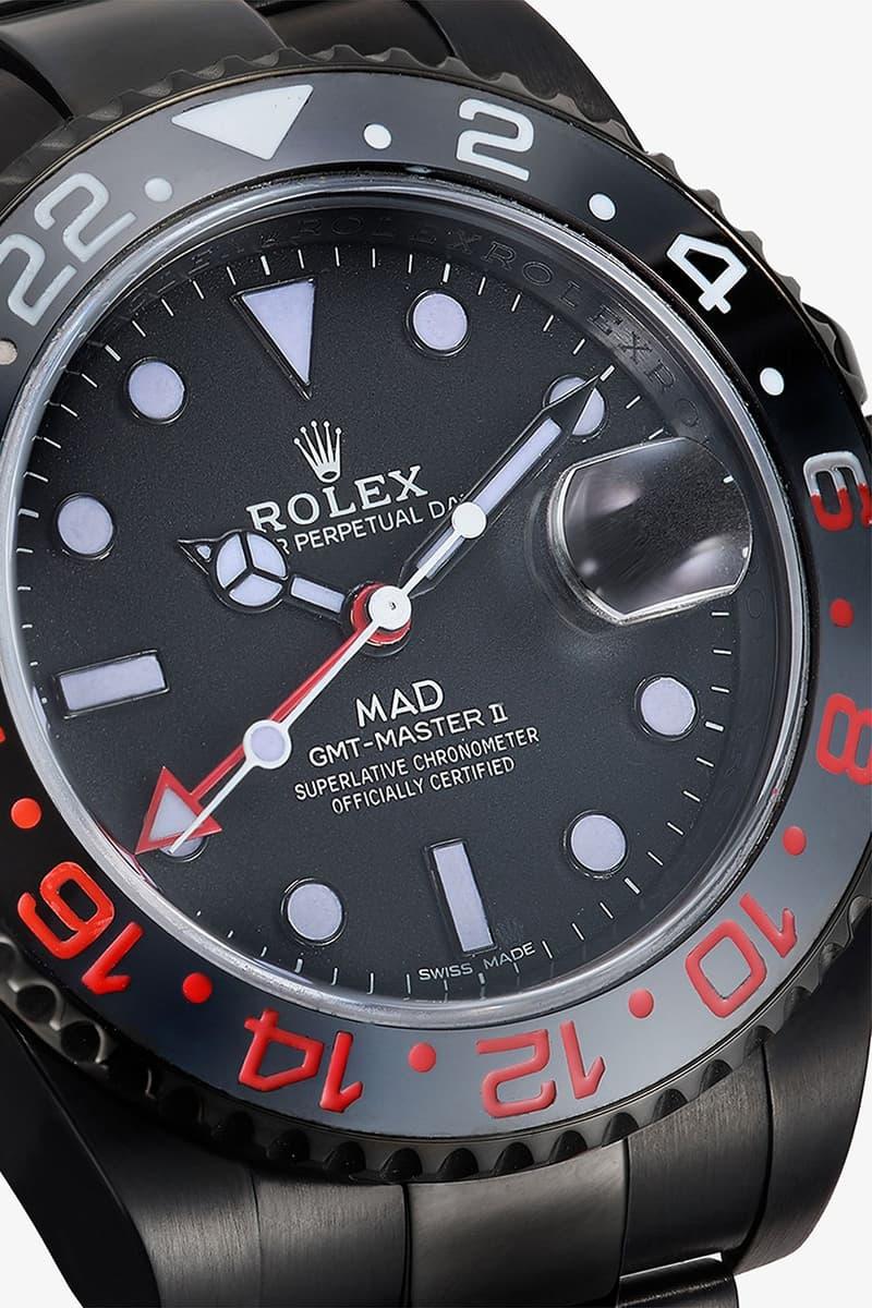 MAD Paris 推出全新 Rolex GMT Master II 紅綠細節定製腕錶