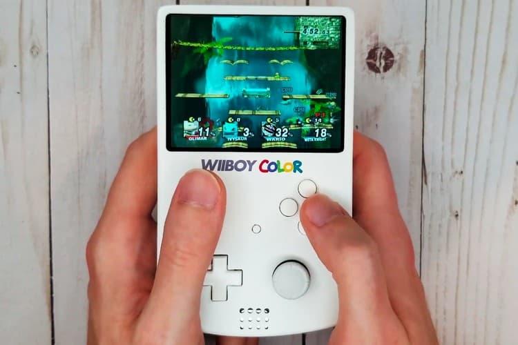 網民自製 Game Boy 主題可攜帶式掌上型 Nintendo Wii 遊戲機