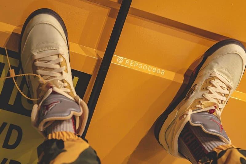 Off-White™ x Air Jordan 5 話題聯名配色「Sail」發售日期疑似曝光