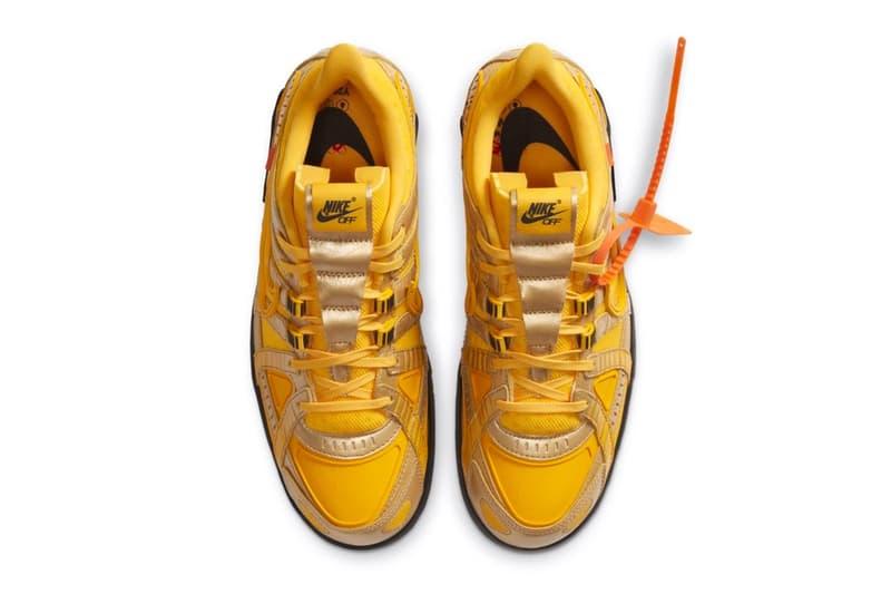 Off-White™ x Nike Air Rubber Dunk 最新聯名「University Gold」發售情報公開