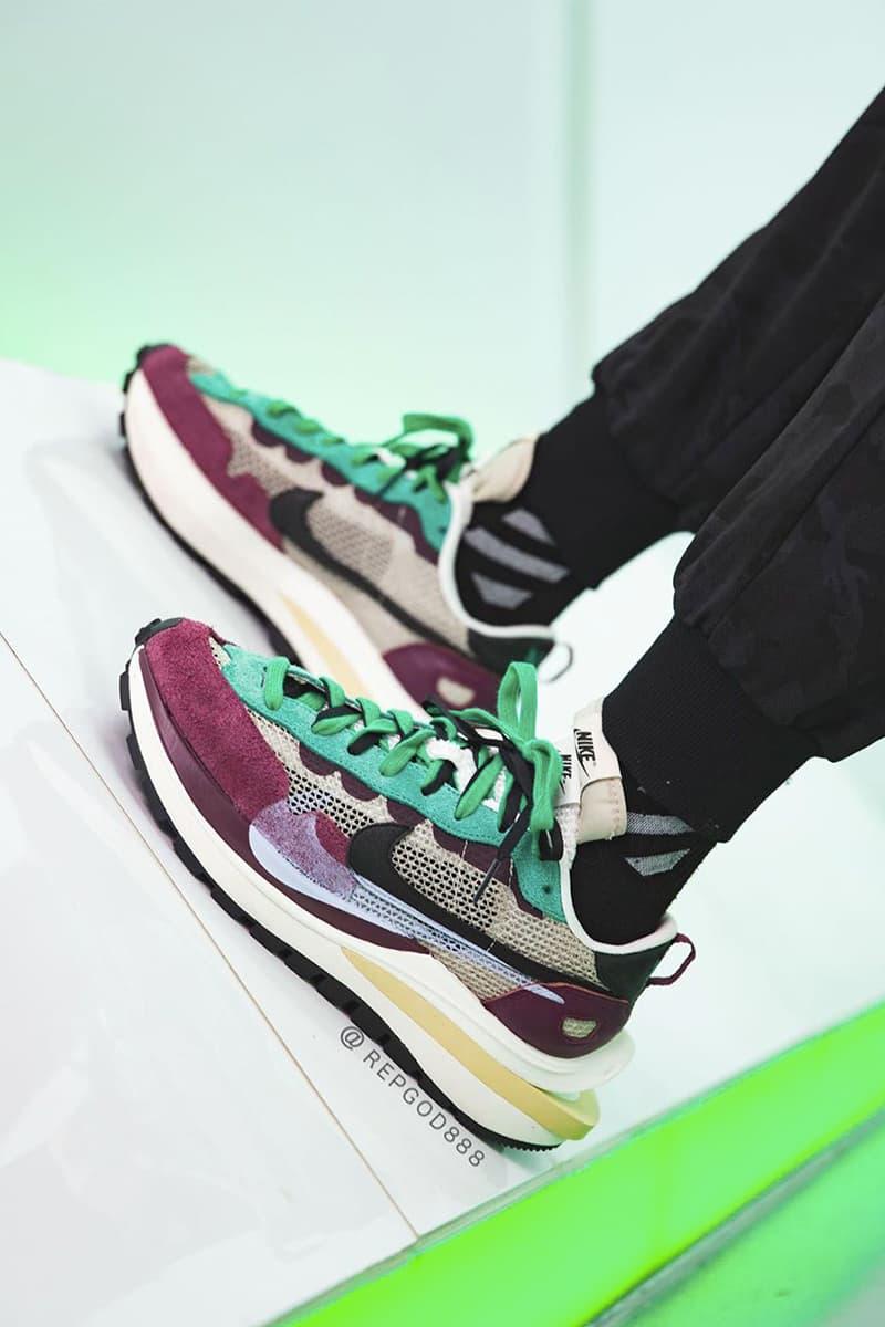 率先近賞 sacai x Nike Vaporwaffle 紫綠配色上腳圖輯