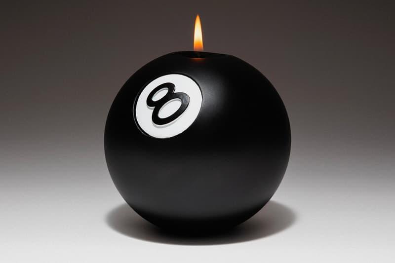 Stüssy 推出全新 8 Ball 八號球造型香氛蠟燭