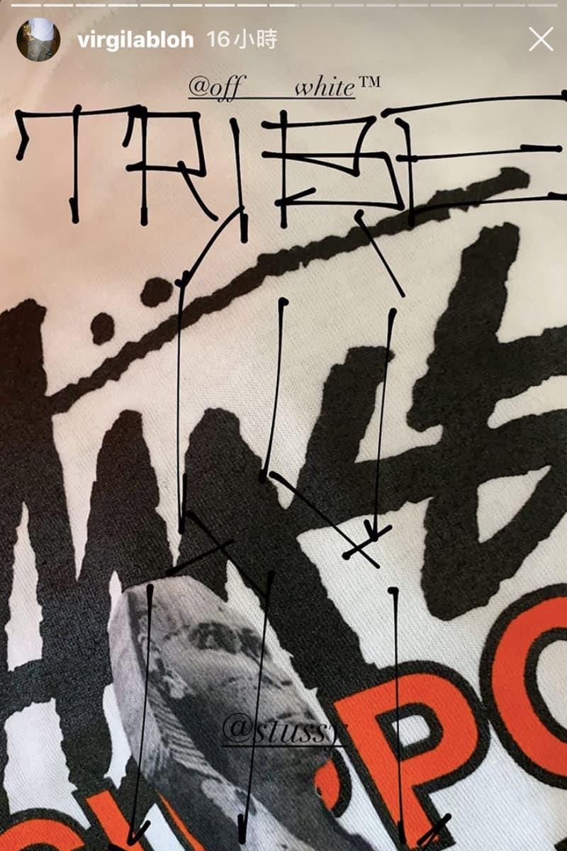 Virgil Abloh 疑似曝光 Off-White™ x Stussy 最新聯名系列