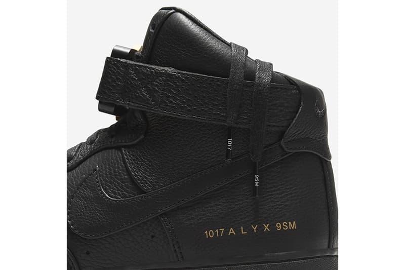 1017 ALYX 9SM x Nike Air Force 1 High 全新聯名鞋款官方圖輯登場