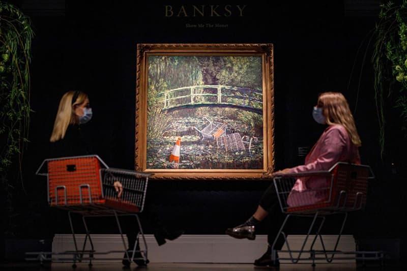 Banksy 標誌性作品《Show Me the Monet》以 $980 萬美元售出