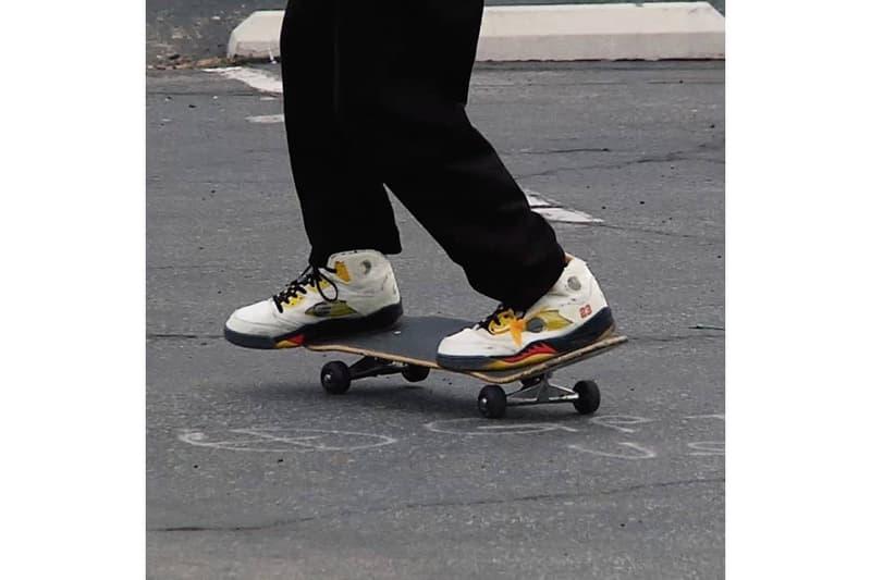 知名滑手 Erik Arteaga 如此展示 Off-White™ x Air Jordan 5 最新聯名鞋款