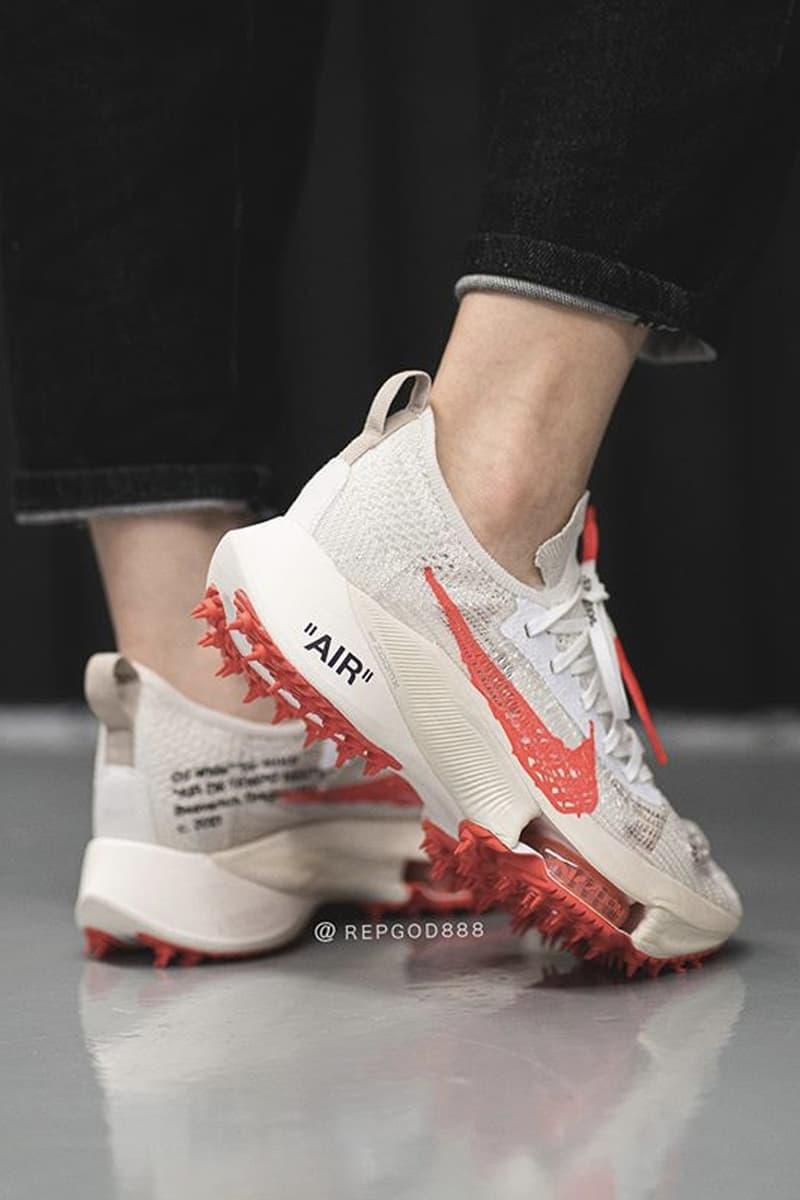 率先近賞 Off-White™ x Nike Air Zoom Tempo Next% FK 最新米紅配色