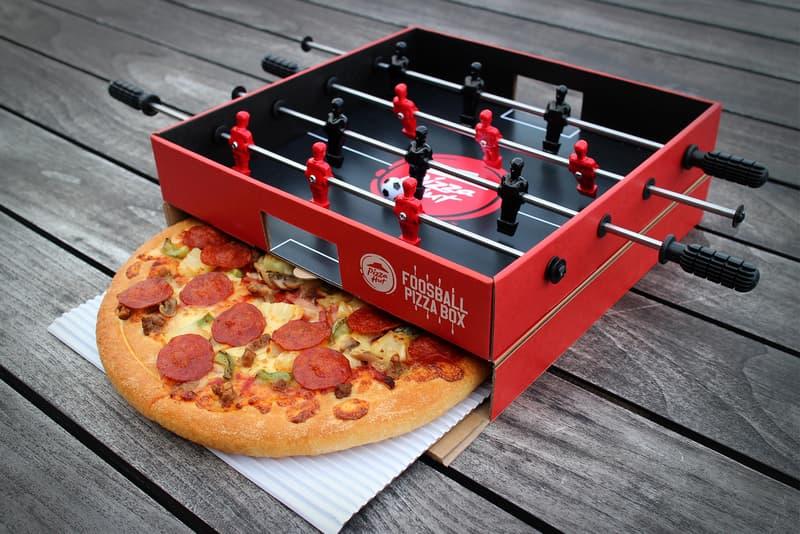 Pizza Hut推出可遊玩桌上足球台造型披薩盒