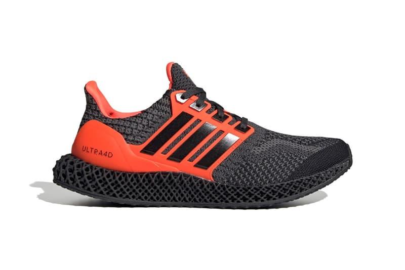 adidas Ultra4D 全新「Core Black/Solar Red」配色發佈