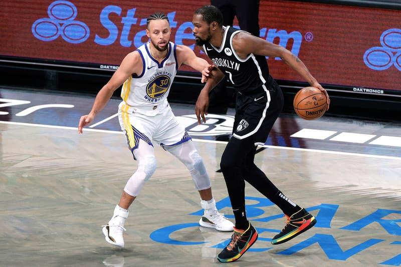 NBA 開幕戰-籃網雙星 Kevin Durant 與 Kyrie Irving 合砍 48 分成功大勝勇士 26 分