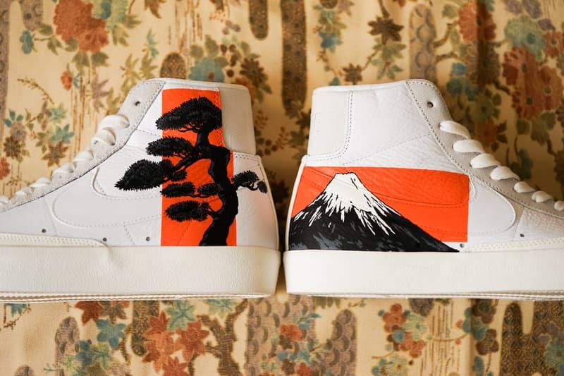 Simple Union 携手 The Flying Hawk Studio 打造全新客制鞋款 Nike Blazer 77 Mid「松山」