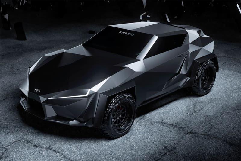 FLAT HAT 3D Studio 打造 Toyota Supra 防彈裝甲改裝車型