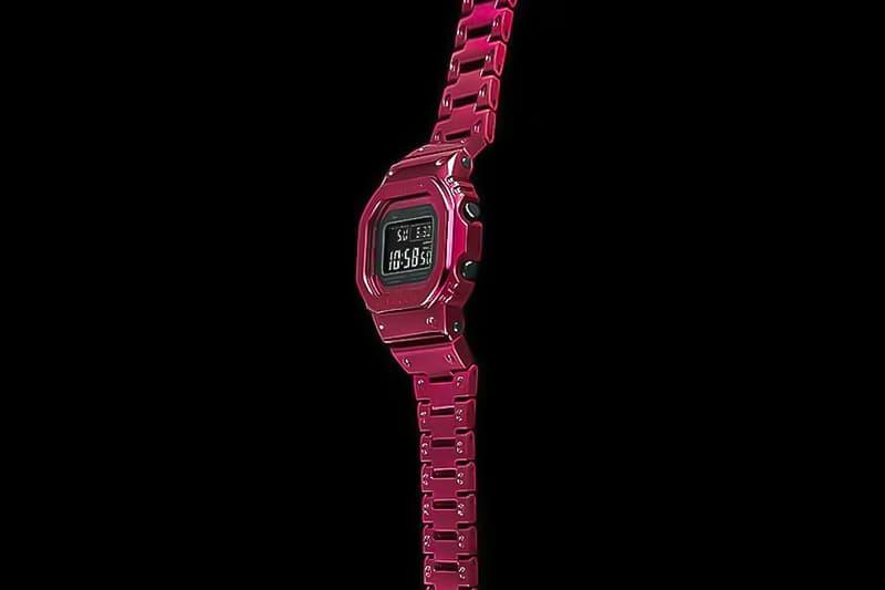 G-Shock 不鏽鋼系列 Full Metal 5000 全新紅色錶款發佈