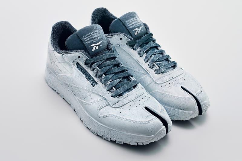 Maison Margiela x Reebok 全新联名鞋款 Classic Leather Tabi即将发售