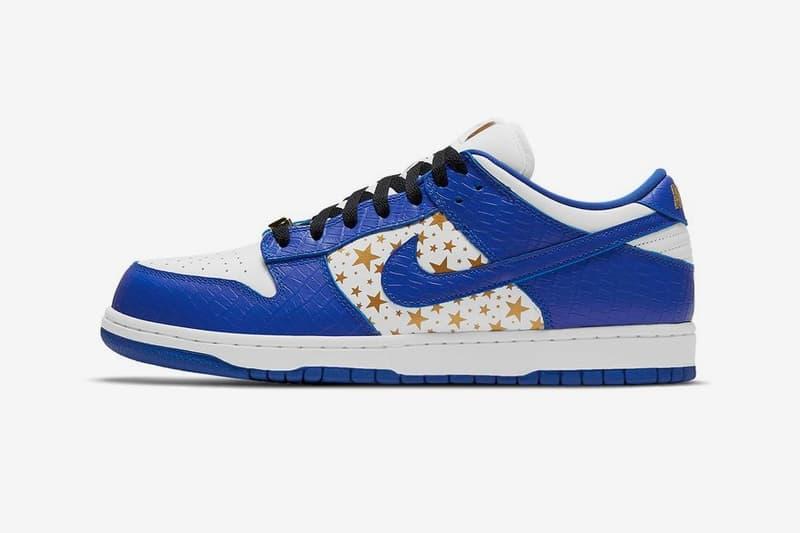 Supreme x Nike SB Dunk Low 最新配色「Hyper Blue」正式登場