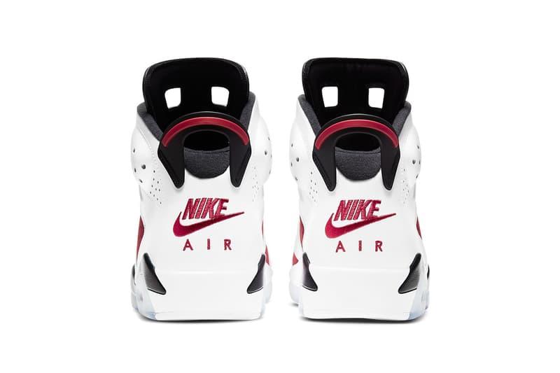 Air Jordan 6 全新復刻鞋款「Carmine」官方圖輯、發售情報正式公開