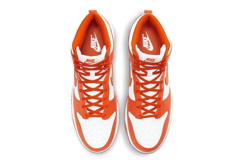 Nike Dunk High 經典配色「Syracuse」確立回歸上架