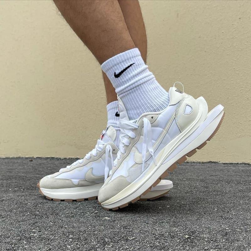 sacai x Nike Vaporwaffle 最新聯名配色「Sail」上腳圖輯率先曝光