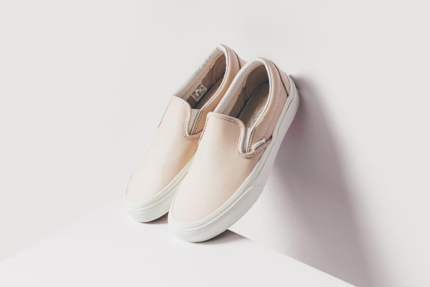 Vans Pink Leather Slip-On   HYPEBAE