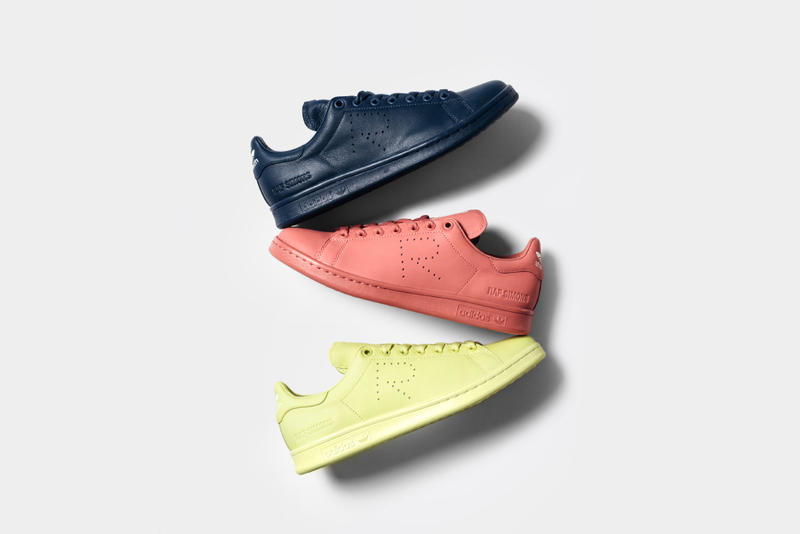 new arrivals c31d3 9b3da Raf Simons x adidas Stan Smith 2016 Spring Collection. The classic  silhouette gets a luxe leather makeover in three sleek, matte colorways.