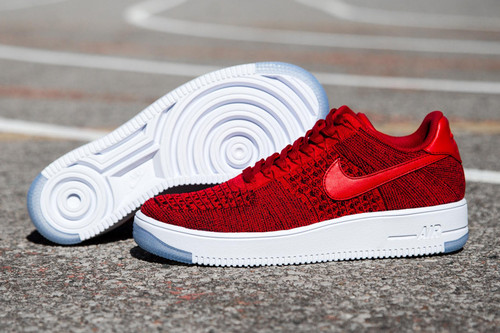new product 8cd3d c2e60 Nike Air Force 1 Flyknit Sees Red