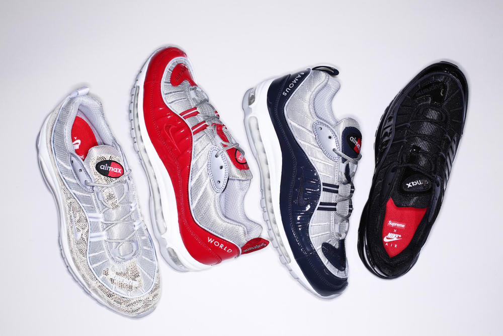 03a986fe334 Supreme x Nike Air Max 98 Spring 2016 Collection