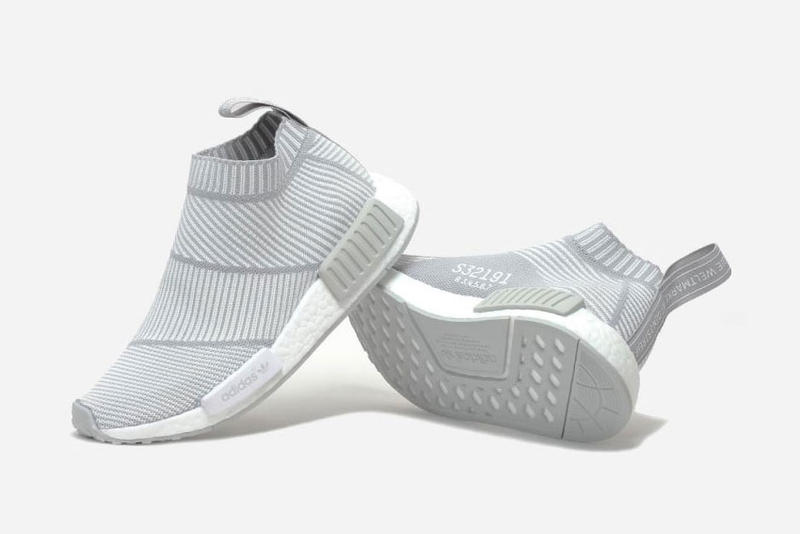 "best service a51bd 8acff adidas NMD City Sock Primeknit ""Light Grey/White"" 