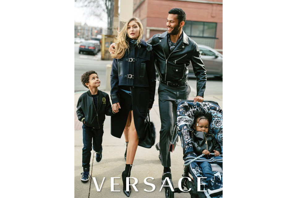 Gigi Hadid in Versace advertisement