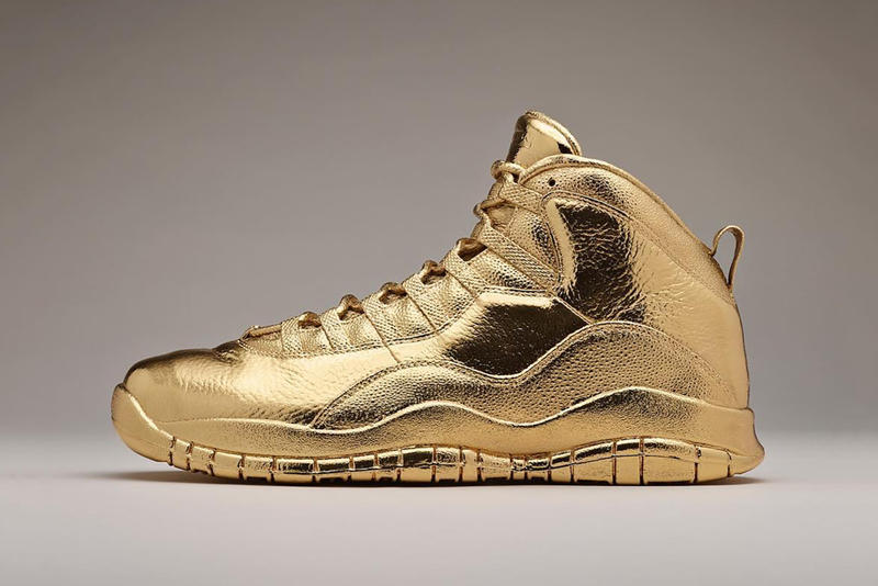 sale retailer 790a6 61701 Drake Solid Gold Air Jordan 10