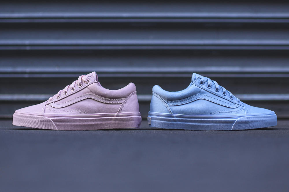 Vans Old Skool Pink and Blue Mono Pack | HYPEBAE