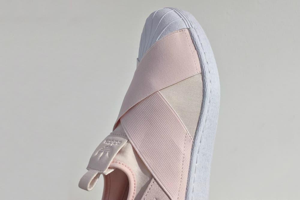 finest selection 1a1c0 915e6 A Light Pink Breeze Covers adidas Originals' Superstar Slip ...