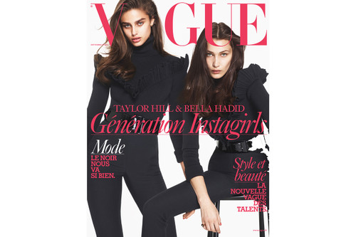 Bella Hadid and Taylor Hill Pose Side by Side for French  Vogue  September  Issue d66e592d9