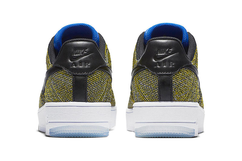 Nike Air Force 1 Flyknit Low Black Blue Tint Game Royal