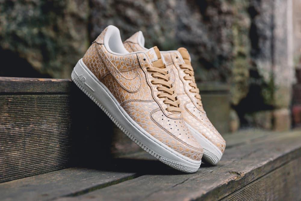 Nike Air Force 1 Metallic Gold Snakeskin